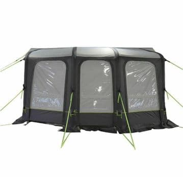 420cm CARAVAN INFLATABLE AIR AWNING with LARGE ANNEXE and SKYLIGHT WINDOWS